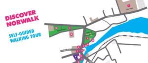 Discover Norwalk Walking Tour Map